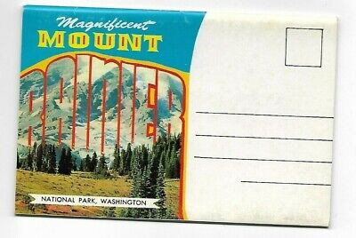 Postcard Folder-Mount Rainier National Park