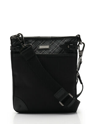 9d7ba0906b BURBERRY BLACK LABEL shoulder bag plaid nylon leather black multi-color