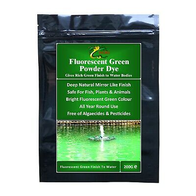 Hydra FLUORESCENT GREEN  Powder DYE for Fountains, Lakes and Ponds