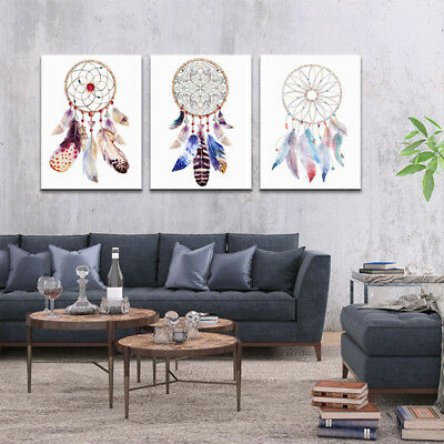 Indian Dream Catcher Feather Poster Nordic Wall Art Home Living Room Decoration