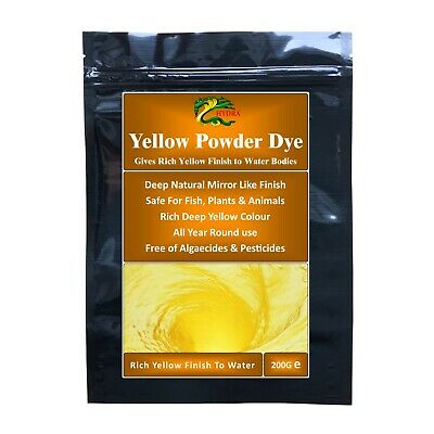 Hydra Yellow Powder Dye for Ponds, Water Features & Fountains