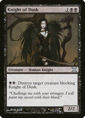 Knight of Dusk 10th Edition NM Black Uncommon MAGIC GATHERING CARD ABUGames