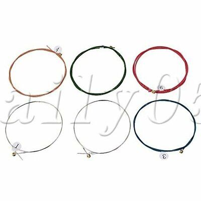 6PCS Guitar Stainless Steel Strings for Acoustic Guitar A-E