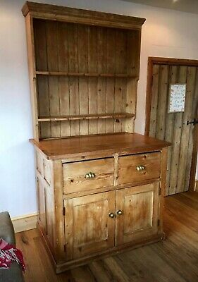 Welsh Dresser - Fabulous Original Vintage Antique Pine Rustic Farmhouse-Style