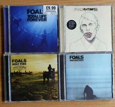 FOALS 4 x CD bundle What Went Down / Antidotes / Total Life Forever / Holy Fire