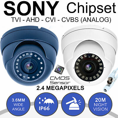 Dome / Bullet CCTV Camera 2.4MP AHD HD 1080P Sony Lens Security Night Vision