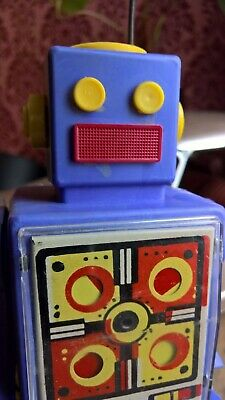 Vintage Russian USSR Wind Up Walking Robot Space Toy w/ Key - 60's/70's rare