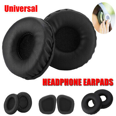 Replacement Headphones Ear Pads Cushion Leather Foam Cover for Sony Headset 70mm