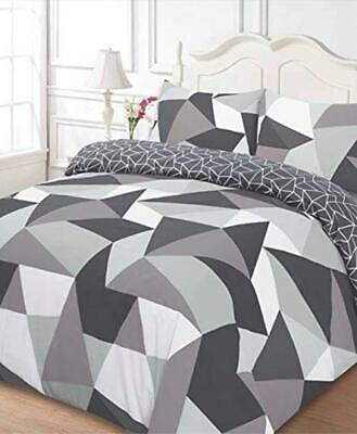 Dreamscene Shapes Duvet Cover with Pillow Case Bedding Set, Polyester-Cotton,
