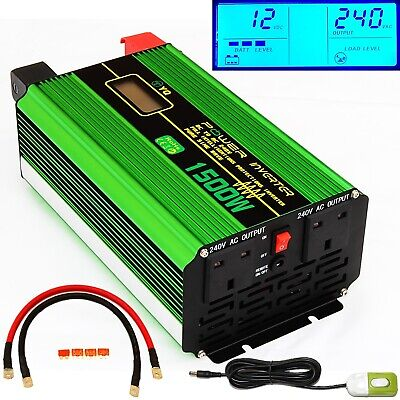 3000W Peak/1500W DC12V INTELLINGENT PURE SINE WAVE POWER INVERTER +REMOTE SWITCH