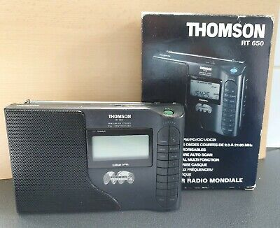 THOMSON RT 650 DIGITAL RADI0 (FM/MW/SW 1/SW 2) Station Memory  World Band Rare