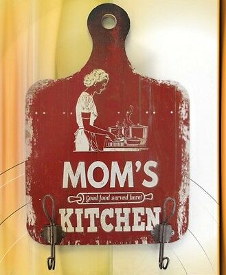 Wardrobe Hook + Shield Wood Mom's Kitchen Wardrobe Hook Vintage Aesthetics