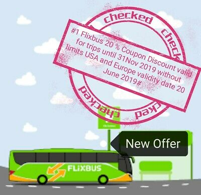#1 Flixbus Coupon kupon rabbatt 20% -sconto valid until 30/11/2019 ship24h #