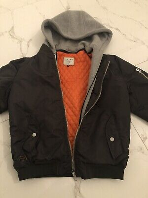 INDIE Kids Industrie ROLER Boys Bomber Hoodie Jacket Size 16.Excellent Condition