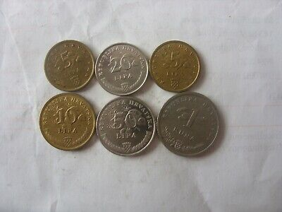 Lot Of 6 Croatia Coins  5 Lipa - 1 Kuna 1999- - 2016
