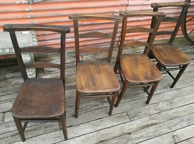 Reclaimed Chapel Chairs Church Seat Book Shelf Quantity Avail Solid Wood #IN30