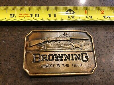 Vintage Browning Finest In The Field Indiana Metal Craft Belt Buckle