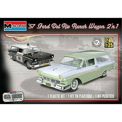 Revell 1957 Ford Del Rio Ranch Wagon 2n1 - Plastic Model Car Kit - 1/25 Scale