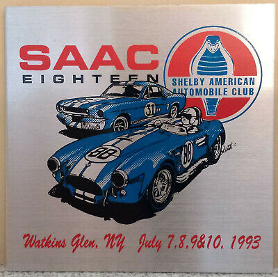 SAAC 18 Convention 1993 Shelby American Automobile Club Dash Plaque