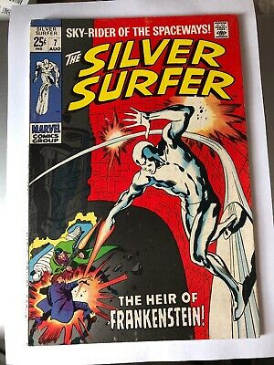 Silver Surfer Vol1 #7. August 1969. Last Giant-Size Issue. Frankenstein Cameo