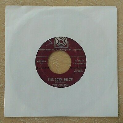 1963 TED CURSON Fire Down Below / The Very Young 45 Charles Mingus Cecil Taylor