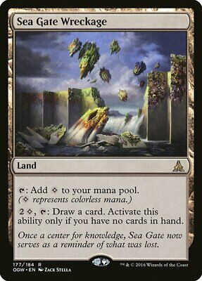 Sea Gate Wreckage Oath of the Gatewatch PLD-SP Land Rare MAGIC MTG CARD ABUGames