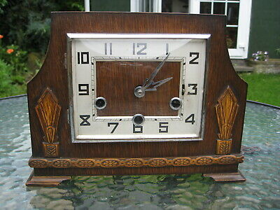 Art Deco Westminster Chiming Mantle clock, fully working , sounds great , good c