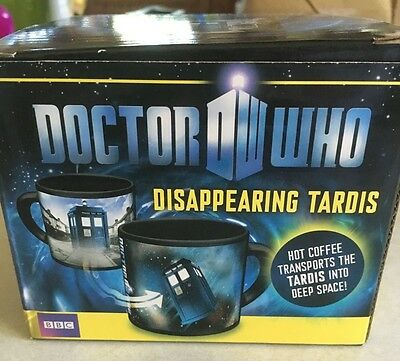 BBC Officially Licensed Doctor Who Disappearing Tardis Mug in Box