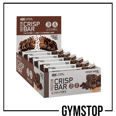 Optimum Nutrition Protein Crisp Bar 10x65g *ALL FLAVOURS*FREE UK DELIVERY*