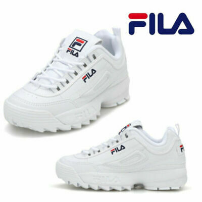 FILA Disruptor II 2 Blanches Classic Athletic Running Femme Chaussures Baskets