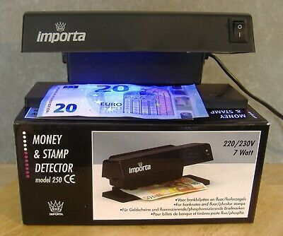 Money & Stamp Detector Importa table model 250 with 7W UV longwave lamp