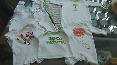 0 - 3 months Baby Bundle. John Lewis, M,Care. Next I Love Daddy Mummy x 8 Items