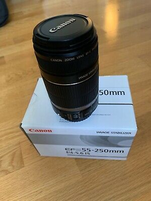 Canon EFS 55-250mm f/4-5.6 IS Lens, original packaging
