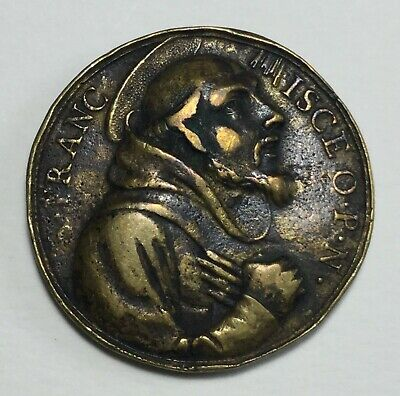 Italy - Papal Medallion - St Francis - Possibly 17th Century.