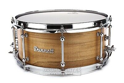 Dunnett Classic MonoPly Maple Snare Drum 14x6.5 Satin Natural