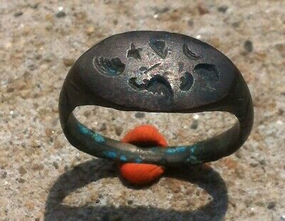 Fertility Roman Bronze  Ring With Wings