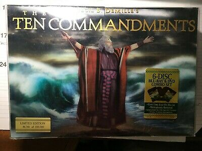 The Ten Commandments 6 Disc Limited Edition Blu-ray + DVD Numbered Set / SEALED