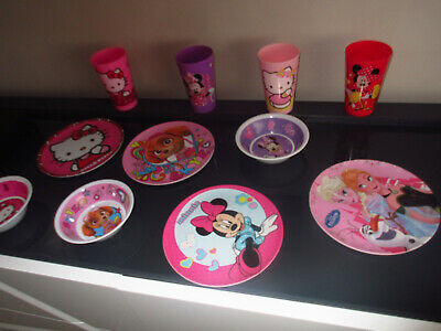 Tres Beau Lot De 11 Pieces Disney Minnie,Reine Des Neiges,Hello Kitty,Stella