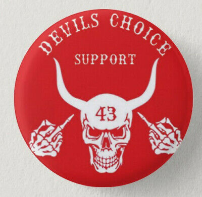 Pin Button Badge Ø38mm DEVILS CHOICE SUPPORT 43