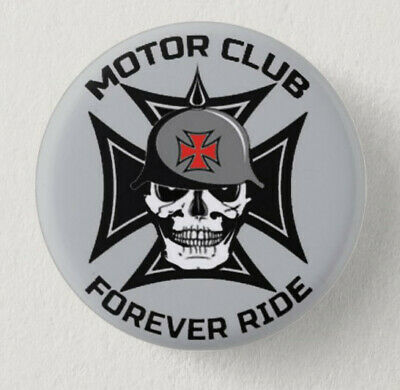 Pin Button Badge Ø38mm MOTOR CLUB FOREVER RIDE