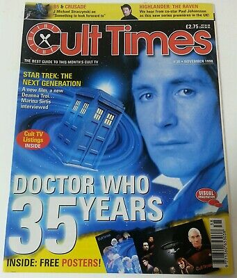 MAGAZINE - Cult Times Magazine Issue #38 Dated November 1998 Doctor Who 35 Years