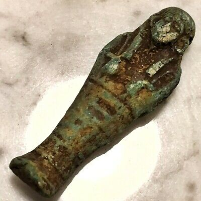 Green Egyptian Faience Amulet Mummy Talisman Ushabti Pendent Ancient Style Old