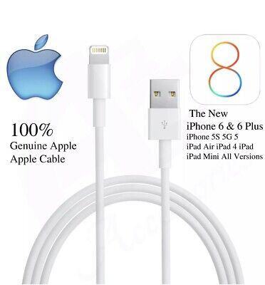 Apple Original iPhone 5 6 6s Plus 7 8 X iPad Lightning Charger USB Cable lead