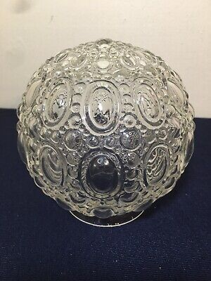 Vintage Clear Glass Ball Light Shade Globe Ceiling Lamp Fixture Mid-Century