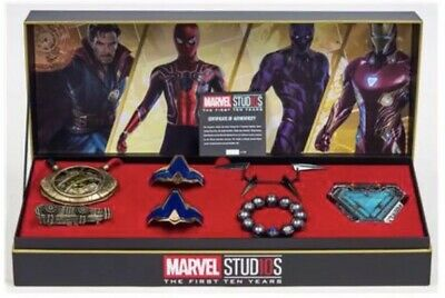 Avengers Jewelry Power Pack Arc Reactor Eye Of Agamotto Kimoyo Bracelet Box Set