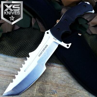 """11"""" Tactical FULL TANG Military Hunting COVERT Combat SURVIVAL Knife W/ Sheath"""