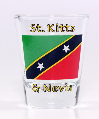 St.kitts & Nevis Flag Shot Glass Shotglass