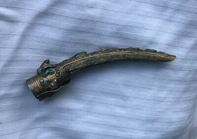 Antique Chinese Enameled Nail Cover