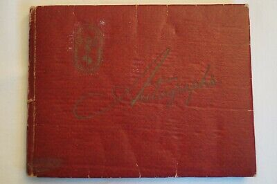 Olympic Games Collectable 1956 Melbourne Vintage Games Autograph Book Few Signed