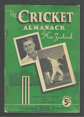 1948 The Cricket Almanack of New Zealand  FIRST EDITION